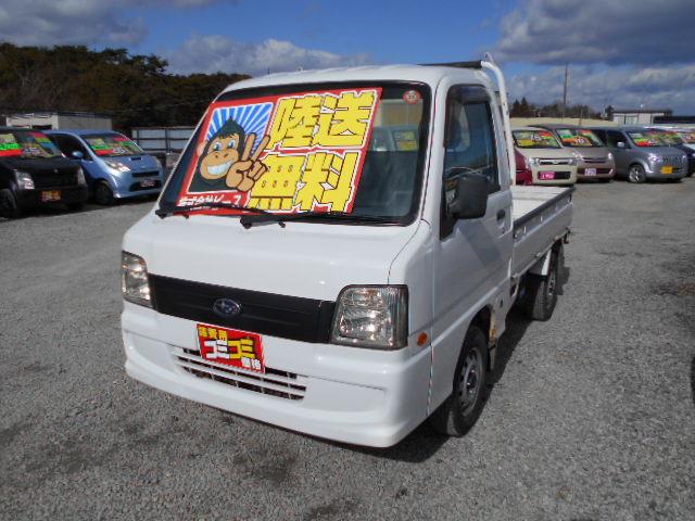 低価格車 サンバートラック 5MT 4WD 18年式 車検31年12月 陸送無料 福島県相馬市発‼のサムネイル
