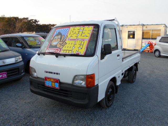 低価格車 サンバートラック 5MT 4WD 平成12年式 車検2年付 陸送無料 福島県相馬市発‼のサムネイル