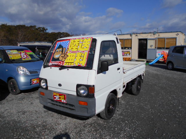 低価格車 サンバートラック 5MT 4WD 4年式 車検33年3月 陸送無料 福島県相馬市発‼のサムネイル