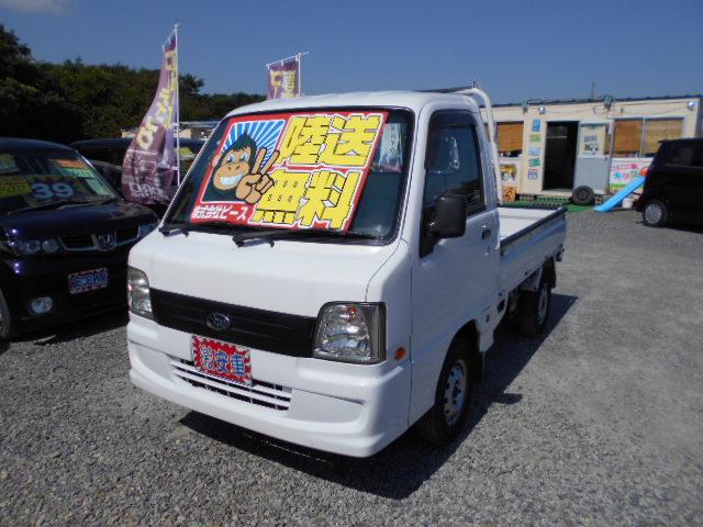 格安車 サンバートラック 5MT 4WD 平成19年式 車検2年付 陸送無料 福島県相馬市発‼のサムネイル