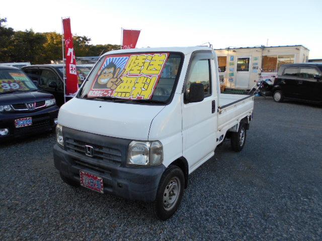 格安車 アクティトラック 5MT エアコン付 4WD 平成11年式 車検2年付 陸送無料 福島県相馬市発‼のサムネイル